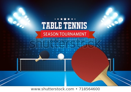 Vector Tennis Tournament Template Illustration Stock photo © enterlinedesign