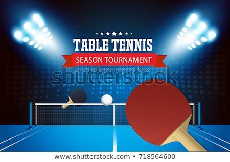 tenisz · terv · elemek · labda · ütő · mező - stock fotó © enterlinedesign