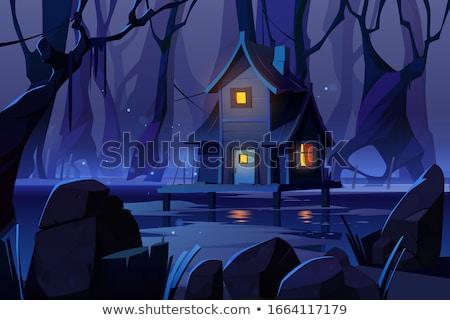 Oude cabine interieur armoede shit lege Stockfoto © ivonnewierink