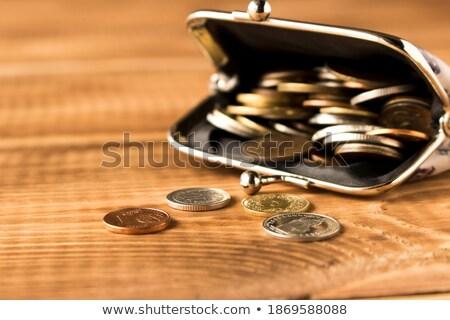 евро монетами открытых бумажник таблице Сток-фото © dolgachov