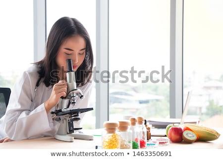 диетврач девушки свежие фрукты иллюстрация женщину продовольствие Сток-фото © adrenalina