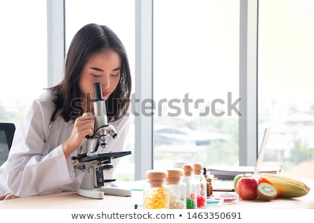 dietitian girl with fresh fruit Stock photo © adrenalina