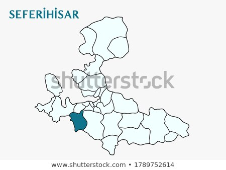 Map of Izmir - Seferihisar is pulled out Stock photo © Istanbul2009