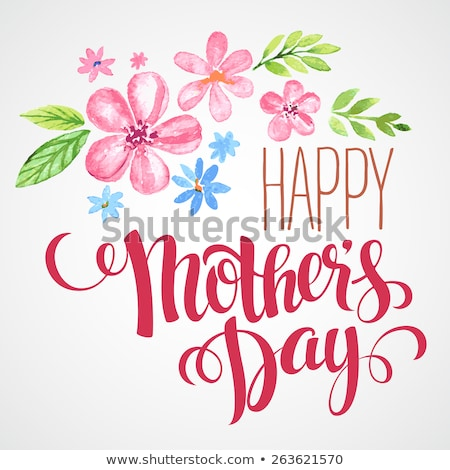 happy mothers day card eps 10 stock photo © beholdereye