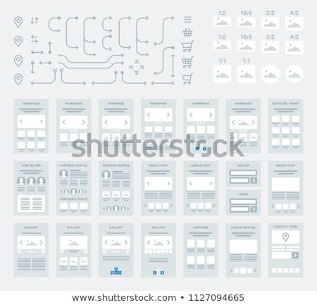 Website Flowchart Stock photo © AnatolyM