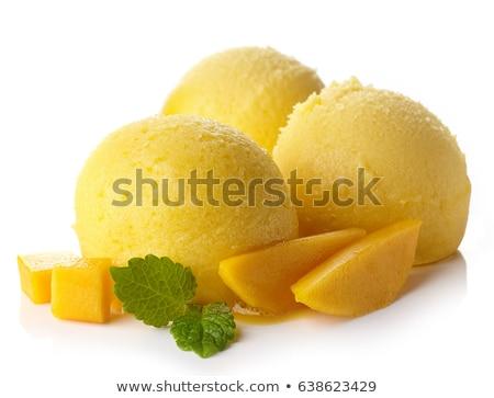 манго · шербет · подробность · желтый · мороженым · продовольствие - Сток-фото © Digifoodstock