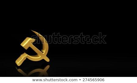 socialismo · rojo · blanco · gestión · etiqueta - foto stock © timbrk