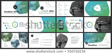 Green Annual report template business brochure flyer template in Stock photo © ganpanjanee