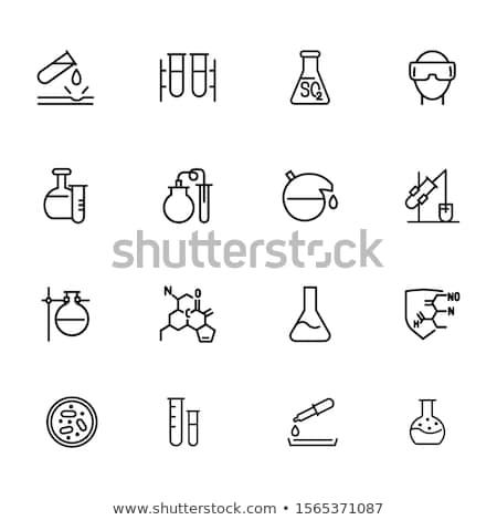 Ikona chemia okulary ochronne kolor projektu medycznych Zdjęcia stock © angelp