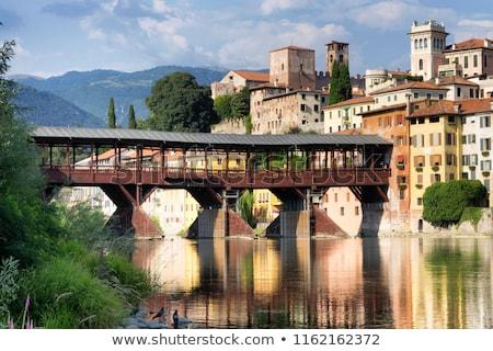 eski · köprü · Floransa · Toskana · İtalya · su - stok fotoğraf © lianem