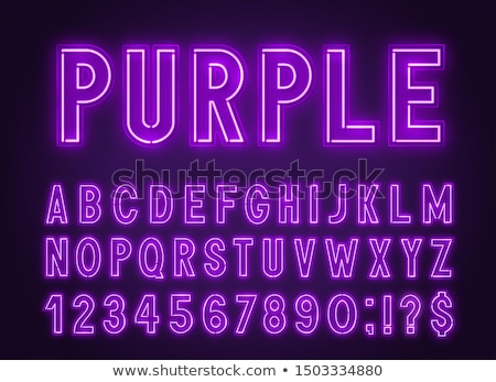 Purple letters of the alphabet Stock photo © bluering