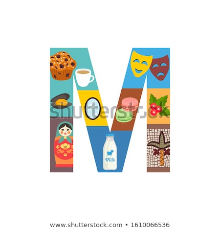 Flashcard letter M is for muffin Stock photo © bluering