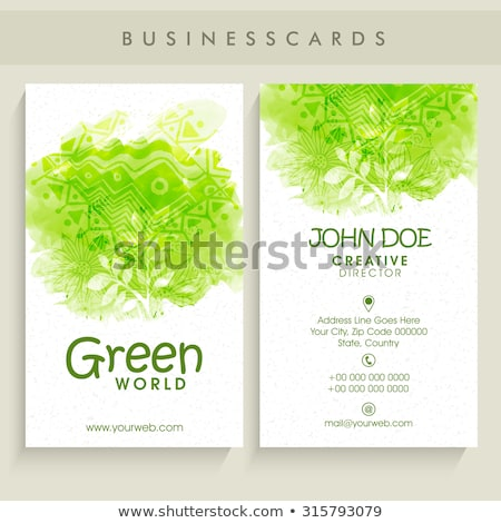 A company contact card Stock photo © bluering