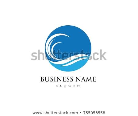 su · dalga · simge · ikon · logo · şablon - stok fotoğraf © Ggs