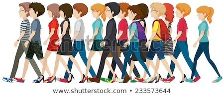 Faceless ladies walking Stock photo © bluering