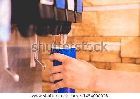 Automaat zachte dranken illustratie voedsel ontwerp Stockfoto © bluering