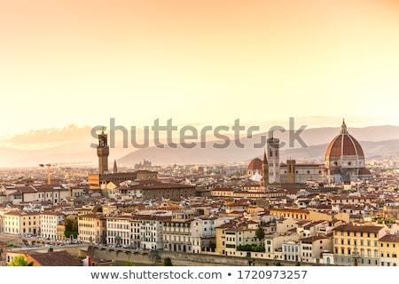 Kilátás város Florence Olaszország katedrális torony Stock fotó © m_pavlov