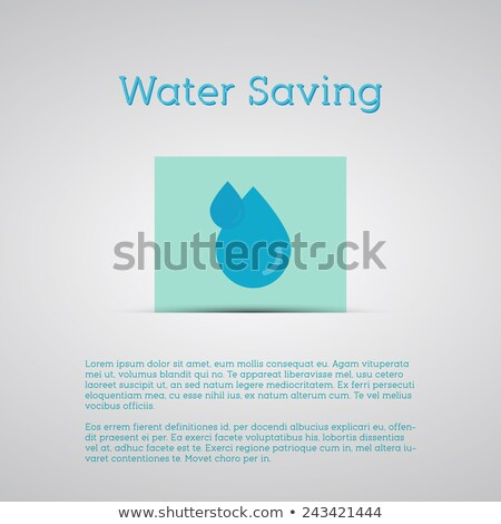 water saving poster silver background minimalistic design can be use as banner template etc stock photo © jeksongraphics