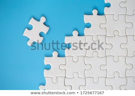 Blank white jigsaw puzzle and missing piece Stock photo © stevanovicigor