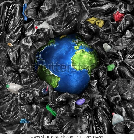 World full of pollutions and trash Stock photo © bluering