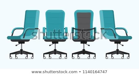 офисные кресла вектора дизайна икона изолированный белый Сток-фото © Andrei_