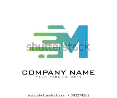 abstract creative dots logo letter M Stock photo © SArts