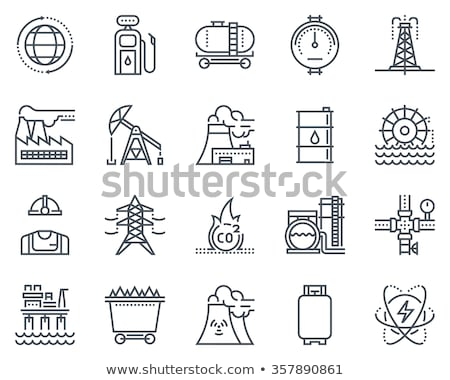 olie · drop · lijn · icon · vector · geïsoleerd - stockfoto © rastudio