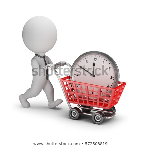 3d small people   businessman bought time stock photo © anatolym