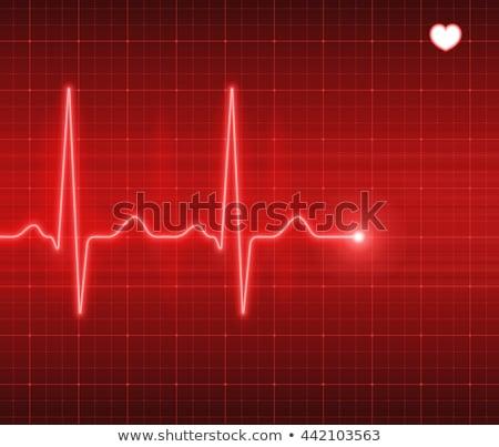 Abstract Heart Pulse Stock photo © alexaldo