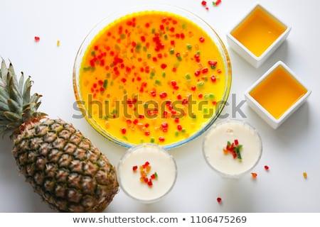 Lait pouding servi fruits frais fruits Photo stock © Digifoodstock