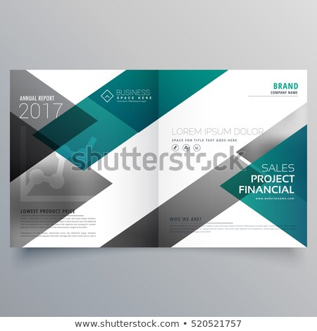 creative booklet cover page deisgn template with geometric shape Stock photo © SArts