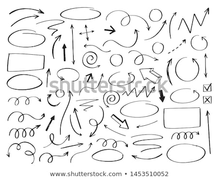 ink lines of pen in scribble style hand drawn set collection Stock photo © SArts