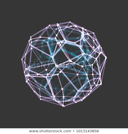 abstract technology wireframe mesh in digital style Stock photo © SArts