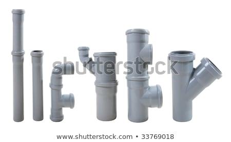 Moderno acqua fuga tubi isolato bianco Foto d'archivio © rufous