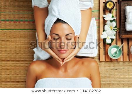 Jovem bela mulher estância termal ambiente retrato corpo Foto stock © Yatsenko