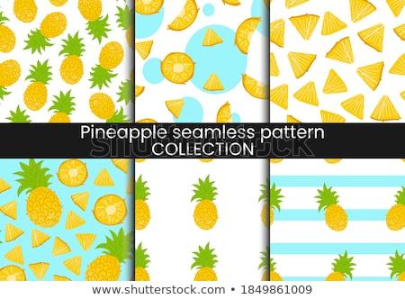 Vintage Pineapple Seamless Pattern Stock photo © ConceptCafe