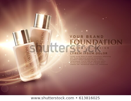 awesome cosmetic foundation product ads 3d illustration concept Stock photo © SArts