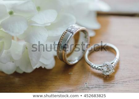 Beautiful Wedding Ring with Blue Gemstone Stock photo © robuart