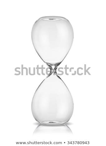 Empty sand glass isolated on white background. Stock photo © tuulijumala