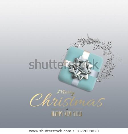 3d render mooie gouden christmas krans decoratie Stockfoto © danilo_vuletic
