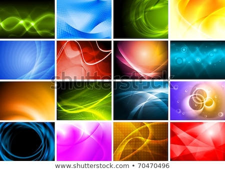 Abstract vector background, green and orange wavy  Stock photo © fresh_5265954