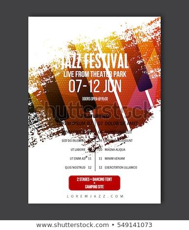 Koncertu plakat szablon zespołu nazwa lokalizacja Zdjęcia stock © orson