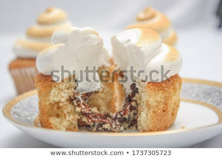 pudding · citroen · vla · witte · kaas - stockfoto © Digifoodstock