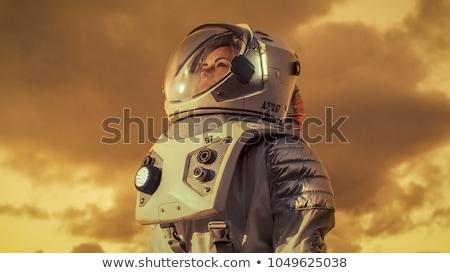 Astronot kadın örnek kız seksi uzay Stok fotoğraf © adrenalina