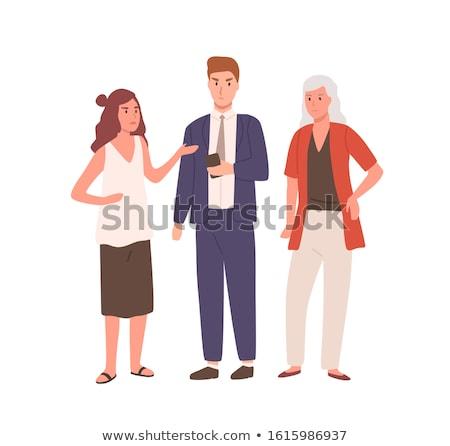 Cartoon Man Woman Communication Problem Stock photo © limbi007