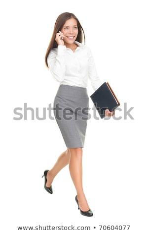 Asia · gente · de · negocios · caminando · frente - foto stock © szefei