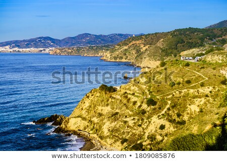 rocks and sea near malaga in Spain Stock photo © compuinfoto