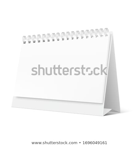 image desk calendar isolated mockup 3d stock photo © user_11870380