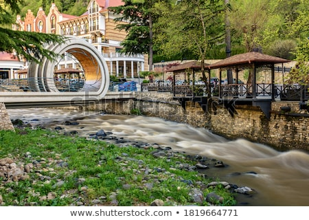 bridge through kura river stock photo © tekso