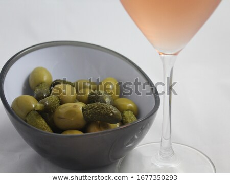 Pickled olives with ingredients Stock photo © wavebreak_media